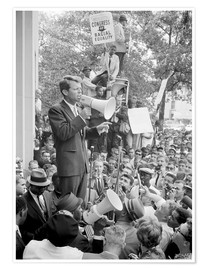 Premium poster  Robert F. Kennedy talks about equal rights to a crowd - John Parrot