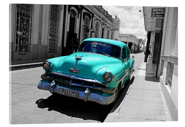 Acrylic print  Colorspot - classic cars in the streets of Santa Clara, Cuba - HADYPHOTO