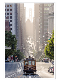 Premium poster  Cable car in San Francisco - Matteo Colombo