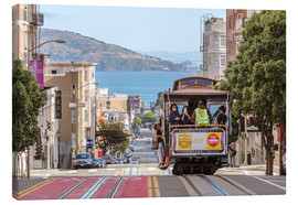 Canvas print  Cable car on a hill in the streets of San Francisco, California, USA - Matteo Colombo