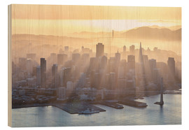 Wood print  San Francisco in the fog - Matteo Colombo