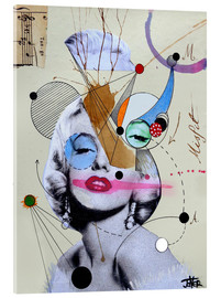 Acrylic print  Marilyn for the abstract thinker - Loui Jover