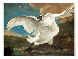 Premium poster  The threatened swan - Jan Asselijn