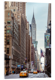 Acrylic print  Road at the Chrysler Building - Matteo Colombo