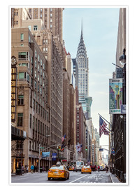 Premium poster  Road at the Chrysler Building - Matteo Colombo