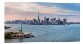 Acrylic print  New York skyline with Statue of Liberty - Matteo Colombo