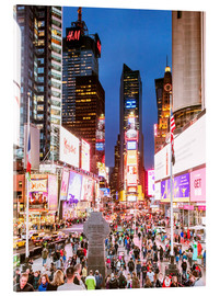 Acrylic print  Times square at night illuminated by neon lights, New York city, USA - Matteo Colombo