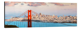Aluminium print  Panoramic sunset over Golden gate bridge and San Francisco bay, California, USA - Matteo Colombo