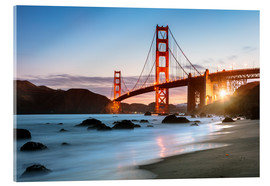 Acrylic print  Golden Gate Bridge mystical - Matteo Colombo