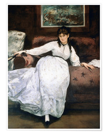Premium poster The rest or Portrait of Berthe Morisot