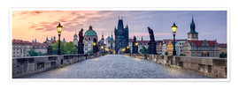 Premium poster  Charles Bridge in Prague Panorama - Jan Christopher Becke