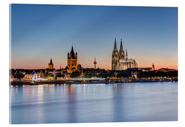 Acrylic print  Summer evening in Cologne - Michael Valjak