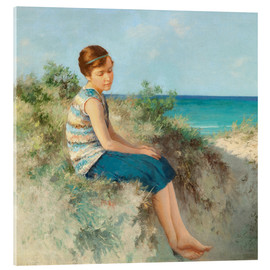 Acrylic print  Girl in the dunes by the North Sea beach on Sylt - Hermann Seeger