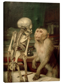 Canvas print  Monkey front skeleton - Gabriel von Max