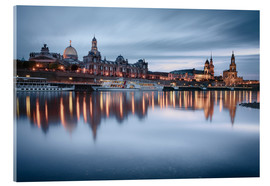 Acrylic print  Dresden old town at the blue hour - Philipp Dase