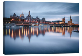 Canvas print  Dresden old town at the blue hour - Philipp Dase