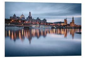 Foam board print  Dresden old town at the blue hour - Philipp Dase
