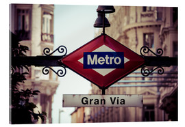 Acrylic print  Metro sign, Madrid
