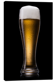 Canvas print  Beer into glass
