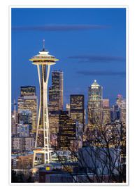 Premium poster  Space Needle - Seattle - Thomas Klinder