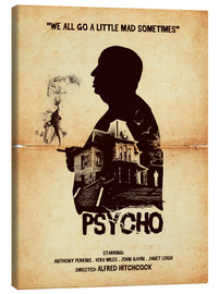 Canvas print  Psycho - Golden Planet Prints