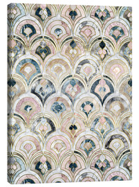 Canvas print  Art Deco Marble Tiles in Soft Pastels - Micklyn Le Feuvre