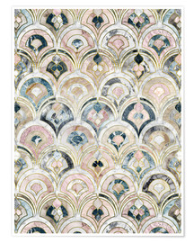 Premium poster  Art Deco Marble Tiles in Soft Pastels - Micklyn Le Feuvre