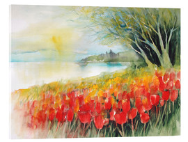 Acrylic print  Tulips blossoms in Ueberlingen on Lake Constance - Eckard Funck