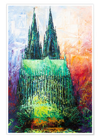Premium poster  Cologne Cathedral Abstract - Renate Berghaus