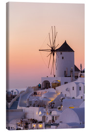Canvas print  Santorini sunset - Thomas Klinder