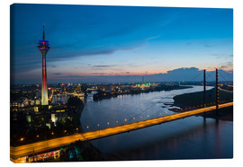 Canvas print  Dusseldorf Skyline at night - rclassen