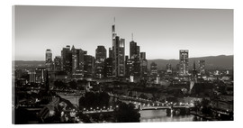 Acrylic print  Frankfurt skyline black and white - rclassen