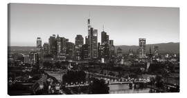 Canvas print  Frankfurt skyline black and white - rclassen