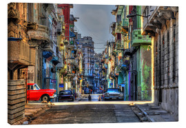 Canvas print  In the streets of Havana - HADYPHOTO