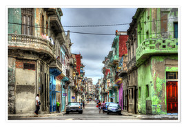 Premium poster  In the streets of Havana - HADYPHOTO