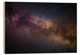 Wood print  Milky Way - The starry sky - Benjamin Butschell