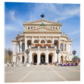 Acrylic print  Alte Oper in Frankfurt, Germany - Jan Christopher Becke