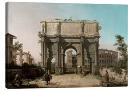 Canvas print  Arch of Constantine with the Colosseum - Antonio Canaletto