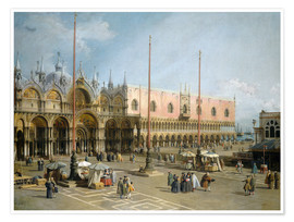Premium poster  The Square of Saint Mark's - Antonio Canaletto