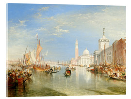 Acrylic print  Venice, The Dogana and San Giorgio Maggiore - Joseph Mallord William Turner