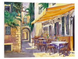 Foam board print  Provence Cafe - Paul Simmons