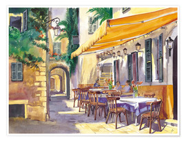 Premium poster  Provence Cafe - Paul Simmons