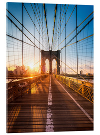 Acrylic print  Brooklyn Bridge in the sunlight, New York City, USA - Jan Christopher Becke