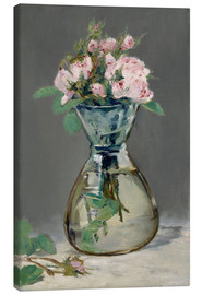 Canvas print  Roses in a vase - Edouard Manet