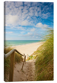 Canvas print  Narrow path to the beach
