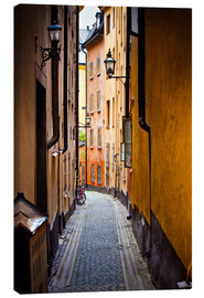 Canvas print  Alley in Stockholm