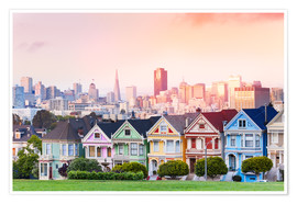Premium poster  Painted Ladies in the evening