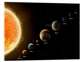 Acrylic print  Our planets