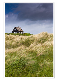 Premium poster  Cottage in the dunes during storm