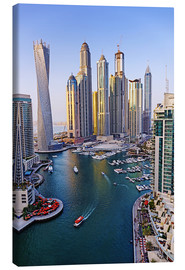 Canvas print  Dubai Marina from above